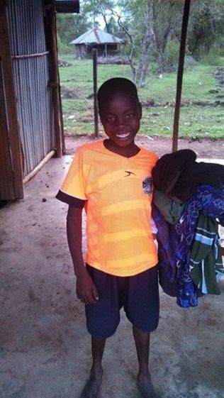 All the kids received some new clothes!