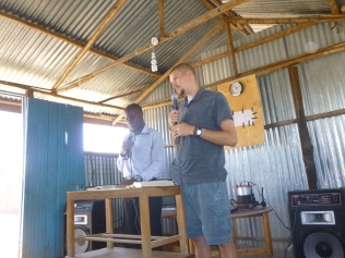 Tim teaching during children's church