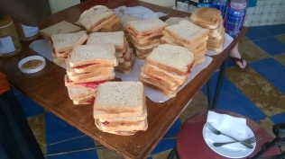 PB&J sandwiches on the field trip