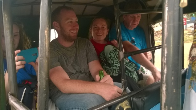 Our friends taking a TukTuk ride